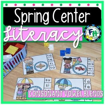 Spring Literacy Center - Consonant/Vowel Blend Clip Cards