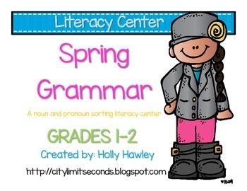 Spring Literacy Center: Noun vs. Pronoun