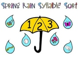Spring Literacy Center - Raindrop Syllable Sort