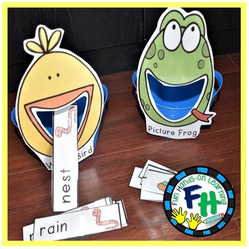 Spring Literacy Center - Read & Feed Spring Words