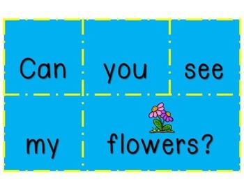 Spring Literacy Center - Sentence Scramble Pocket Chart Center