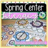 Spring Literacy Center - Spin & Build CVC Words {Kinder & First Grade}