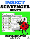 Insect Literacy Center Spring Scavenger Hunt (Differentiated)