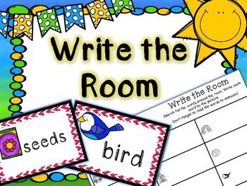 Spring Literacy Center - Write the Room