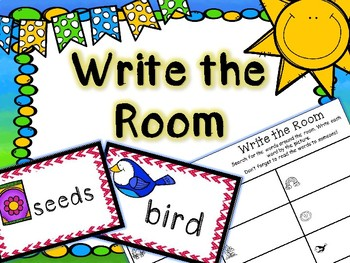 Spring Literacy Center - Write the Room