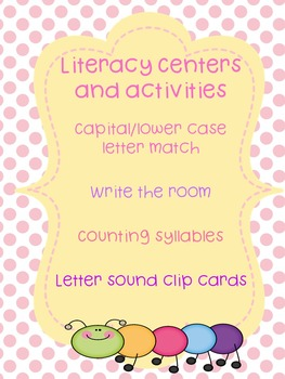 Spring Literacy Center and Activity Pack