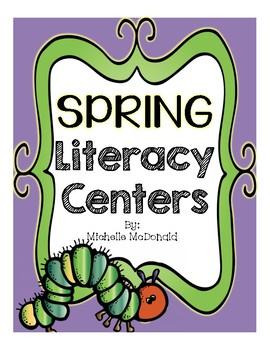Spring Literacy Centers {parts of speech, homophones, anto