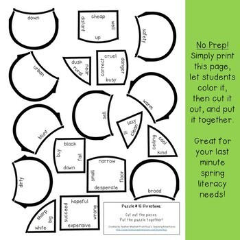 Spring Literacy Centers | Spring Activities | Spring Language Activities