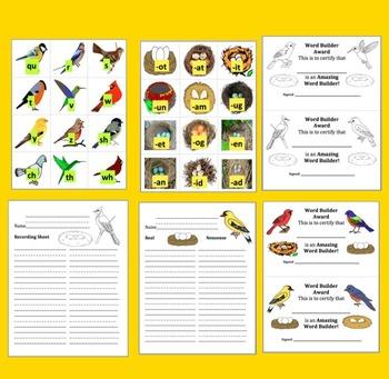 Spring Activities: Birds & Nests-Onset/Rimes Blending - DIBELS - Set 1