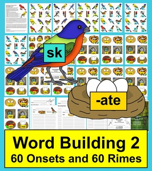 Spring Literacy Centers:  Birds & Nests - Word Building - Level 2-Spring