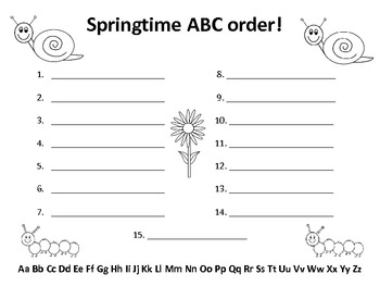 Spring Literacy Centers-Common Core