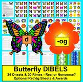 Spring Activities:  DIBELS - Butterfly Word Building - Set 1