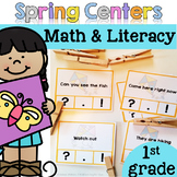 Spring Math & Literacy Centers {First Grade}