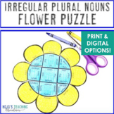Spring Literacy Centers: Irregular Plural Nouns Flower Puzzles - NO PREP