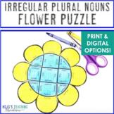 Spring Literacy Centers: Irregular Plural Nouns Flower Puz