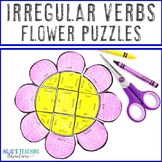IRREGULAR VERBS Flower Puzzles | Spring Literacy Activities, Centers, or Games