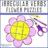 Spring Literacy Centers: Irregular Verbs Flower Puzzles