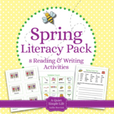 Spring Literacy Centers for Kindergarten and First Grade