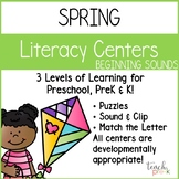 Spring Literacy Centers: Beginning Sounds for Preschool, PreK, K & Homeschool