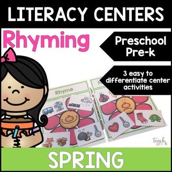 Spring Literacy Centers: Rhyming for Preschool, PreK, K & Homeschool