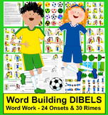 Soccer Literacy Centers: Soccer Word Building - Level 1 - DIBELS
