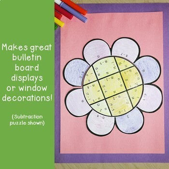 Spring Literacy Centers: Synonyms Flower Puzzle - Differentiated Options