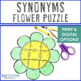 SYNONYMS Flower Puzzle | FUN Spring Literacy Centers, Game