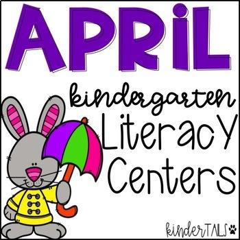 Spring Literacy Centers for Kindergarten {April}