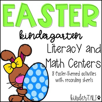 Easter Math and Literacy Centers for Kindergarten
