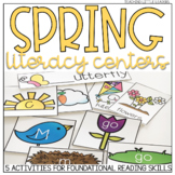 Spring Literacy Centers {with an Editable option}