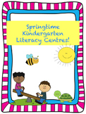 Spring Literacy Centres for Kinders (4 Weeks)! -Common Cor