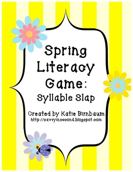 Spring Literacy Game: Syllable Slap