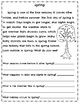 Spring Literacy Activities~ March ~ April ~ Reading Comprehension Passages