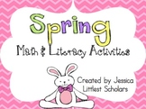 Spring Literacy & Math for Stations or Centers [Common Core Aligned]