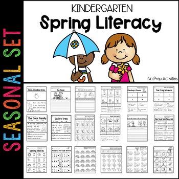 Spring Literacy Pack Kindergarten (Ready to Go)