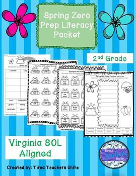 Spring Literacy Packet 2nd Grade - VA SOLS