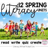 Spring Literacy {Read, Write, Quiz, Create}