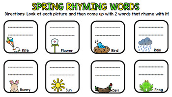 Spring Literacy - Special Education - Life Skills - Print & Go - Reading - ELA