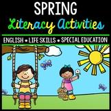 Spring Literacy - Special Education - Life Skills - Print & Go - Reading - ELA