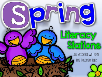 Spring Literacy Stations {10 Stations}