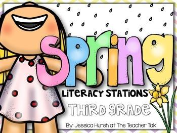 Spring Literacy Stations Third Grade