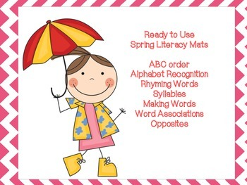 Spring Literacy Working Mats