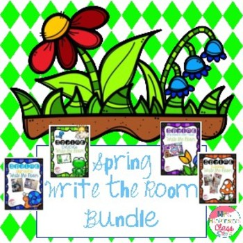 Spring Literacy Write the Room Centers Bundled