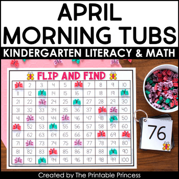 Spring Literacy and Math Activities | Great for Morning Tubs!
