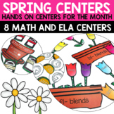 Spring Literacy and Math Centers Bundle for Second Grade