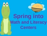 Spring Literacy and Math Centers 3rd Grade