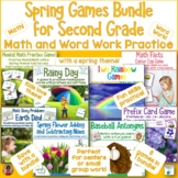 Spring Games   7 Literacy and Math Games Bundle