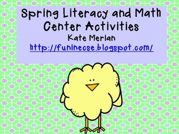 Spring Literacy and Math Games