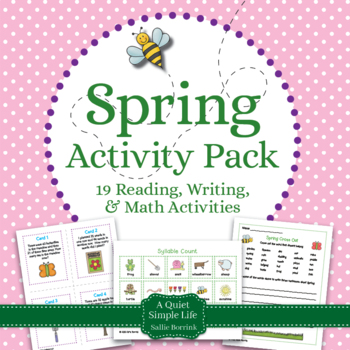 Spring Literacy and Math Bundle for Kindergarten and First Grade