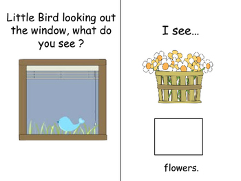 "WHAT Q's;  ""Little Birds, What Do You See?"" Interactive book with coloring book"